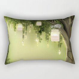 Enchanted Forest Heart Tree Rectangular Pillow