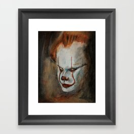 Portrait of Pennywise Framed Art Print