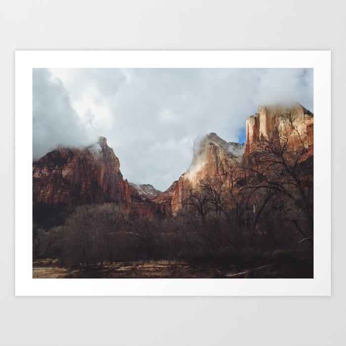 Zion Peaks Art Print