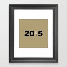 2015-NY-Gold Framed Art Print