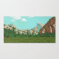 yosemite Canvas Prints featuring Yosemite by Valeriya Volkova