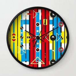 Graphic retro weave Wall Clock