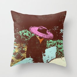 MYSTERIOUS STRANGER Throw Pillow