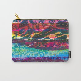 GLITCH INK - screen printed texture Carry-All Pouch