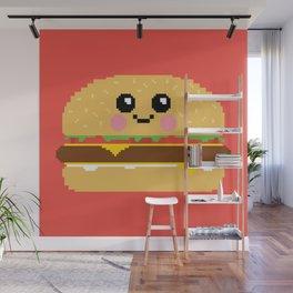 Happy Pixel Hamburger Wall Mural