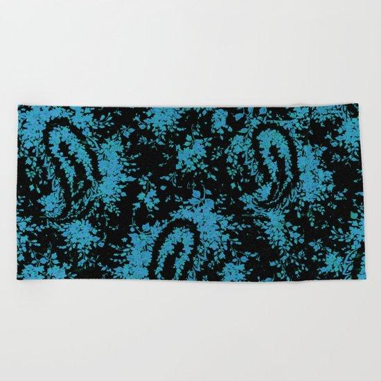 denim paisley Beach Towel