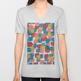 New Mexico Abstract 6 With Gold Unisex V-Neck