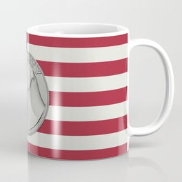 In Dog We Trust - Coin on USA flag Coffee Mug