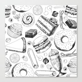 Delicious pattern Canvas Print