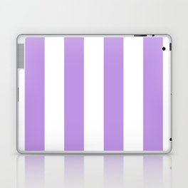 Vertical Stripes - White and Light Violet Laptop & iPad Skin