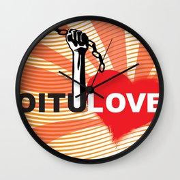 Love Revolution Wall Clock