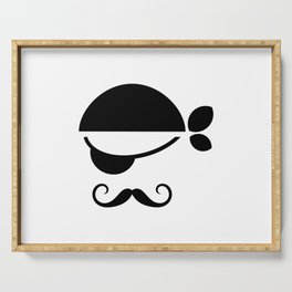 Pirate with an eye patch character design Serving Tray
