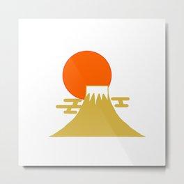 富士山と朝日 -Mt. Fuji and Sunrise- Metal Print