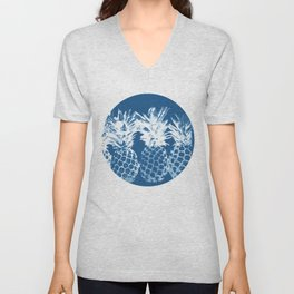 Pineapple blues Unisex V-Neck