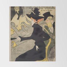 """Henri de Toulouse-Lautrec """"Divan Japonais"""" Throw Blanket"""