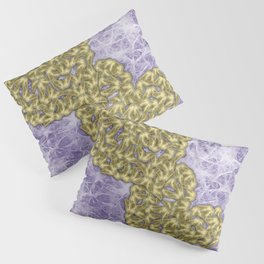 Butterfly swarms in heart shape on purple web texture Pillow Sham