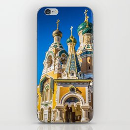Russian Orthodox Cathedral, Nice France iPhone Skin