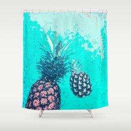 Pineapple Float Shower Curtain