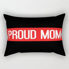 Firefighter: Proud Mom (Thin Red Line) Rectangular Pillow