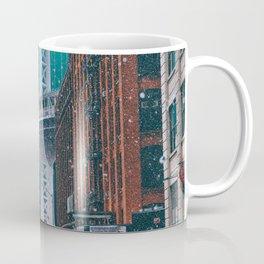 New York City and the Brooklyn Bridge Underwater Coffee Mug