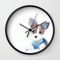 seahawks Wall Clocks featuring Ruffell by KAZUMI