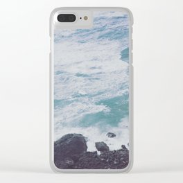 Blue Ocean - Seals on Rocks Clear iPhone Case