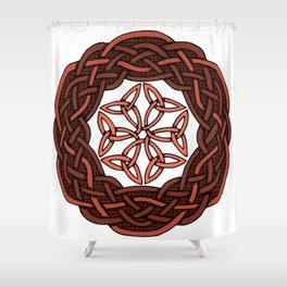 Celtic Knotwork Circle Shower Curtain