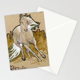 Mucha Horse Stationery Cards