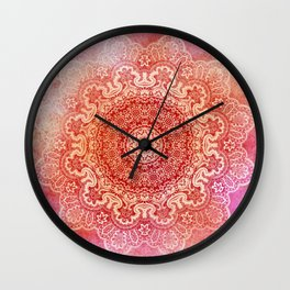 big beauty mandala in warm mood Wall Clock