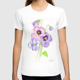 Pretty Pansies T-shirt