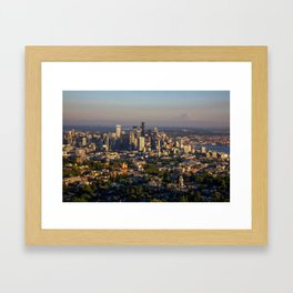 Hello Seattle! Framed Art Print