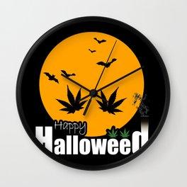 Happy Halloweed Wall Clock