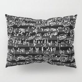 Hand Written Sheet Music // Black Pillow Sham