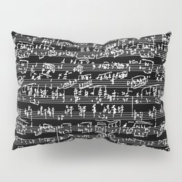 Hand Written Sheet Music // Black Pillow Sham