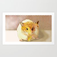 hamster Art Prints featuring Hamster by Lucie Mizutani