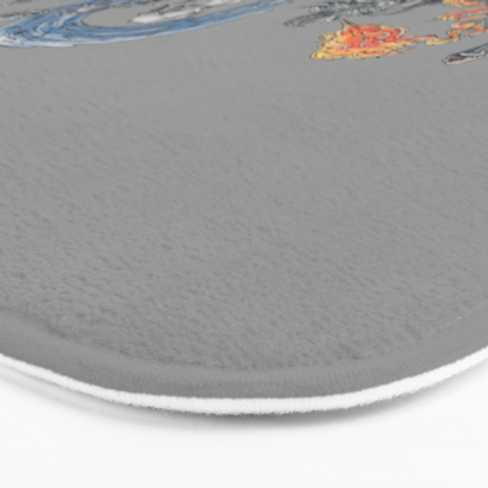 earth - fire - water - (bad) air Bath Mat