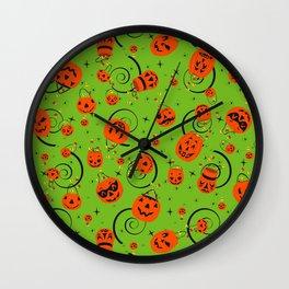 Halloween Magic- Green Wall Clock
