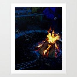 Canadian Campfire Art Print