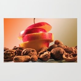 Apple and nuts Rug