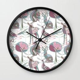 Spring Woodland Wall Clock