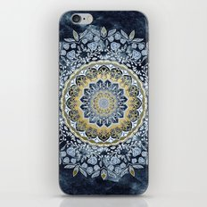 Blue Floral Mandala iPhone & iPod Skin