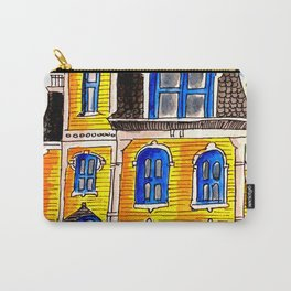 Ink and watercolour Victorian house Carry-All Pouch