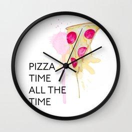 Pizza Watercolor Wall Clock
