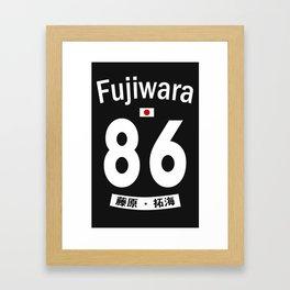 Fujiwara Jersey Framed Art Print