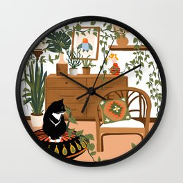 plant lady is the new cat lady Wall Clock