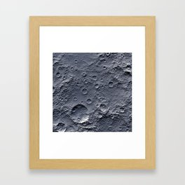 Moon Surface Framed Art Print