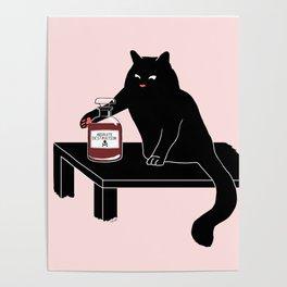 BlackPink Cat - Beaker Breaker Poster