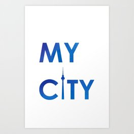 MyCity-Berlin-BlueB Art Print