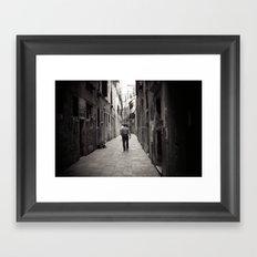 Venice Cowboy Framed Art Print