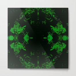 Galaxy Question (green) Metal Print